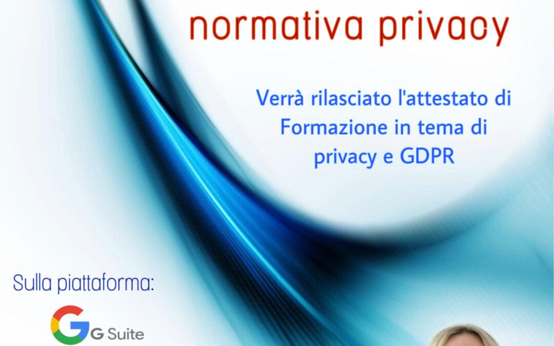 Webinar gratuito in tema GDPR per Titolari e Responsabili di aziende private
